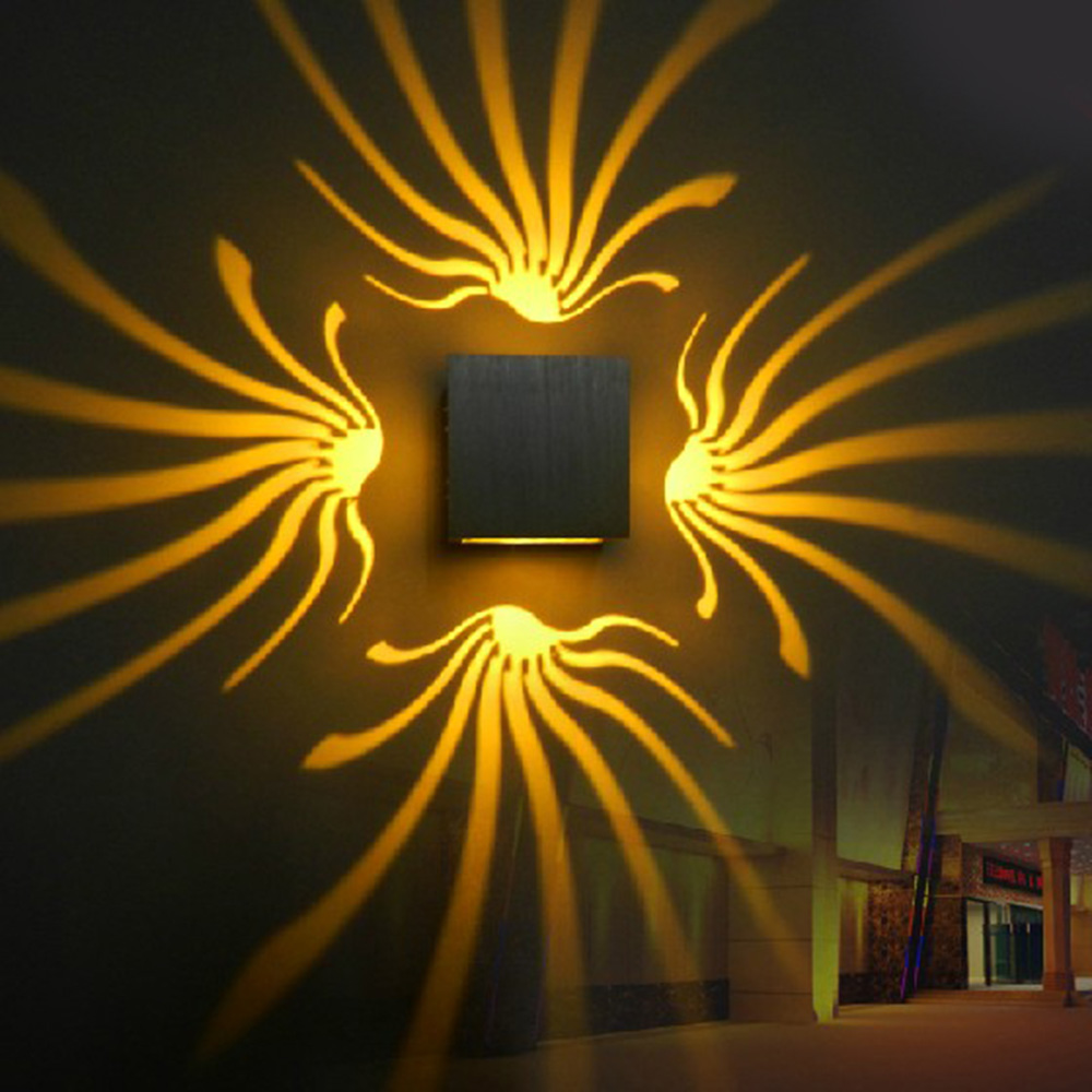 Lamps Lighting Ceiling Fans Led Wall Lamp 3w Triangle Wall Light For Bedroom Home Lighting Luminaire Home Garden Comphasani Com