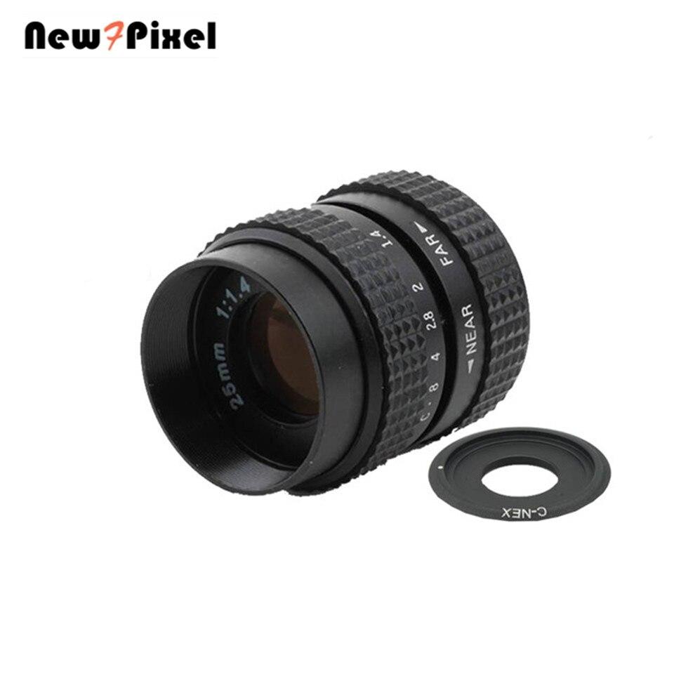 Fujian 25mm F1.4 CCTV lente C-NEX Adattatore anillo C montaje para Sony E A6500 A6300 A6100 A5100 A6000 A5000 a3000 VG20 NEX-VG30