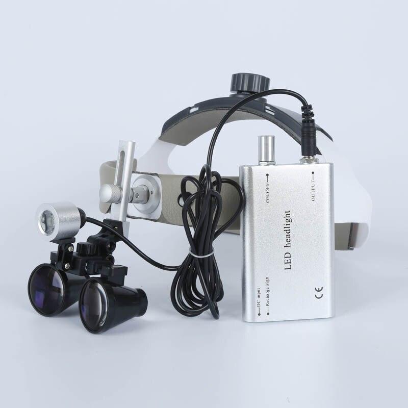 2.5X/3.5X Haute Intensité LED Lumière Binoculaire Chirurgien Opération Médicale Loupe Dentisterie Clinique Chirurgicale Dentaire Loupes