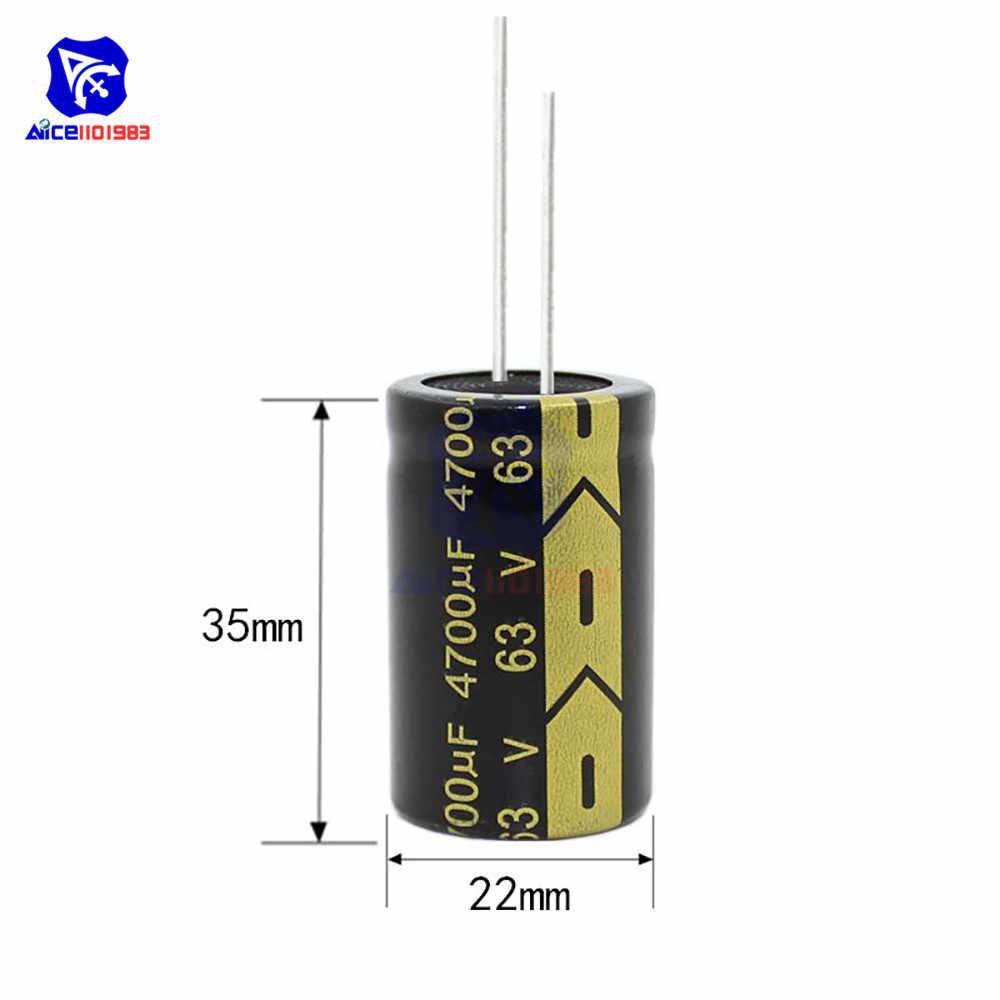 Aluminiowy kondensator elektrolityczny 63V 4700uF 22x35mm wysokiej częstotliwości niski ESR 63V4700μF 22*35mm kondensator