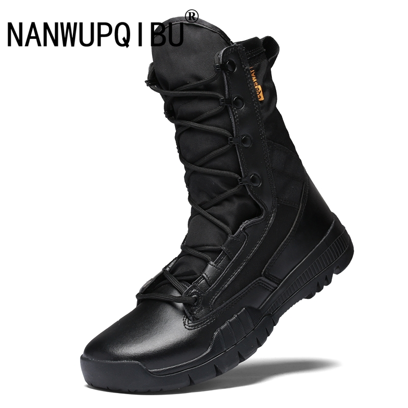 Outdoor Tactical Boots Military Boots Men's Desert Boots Lightweight Breathable High Top  Mens Boots Wear resistant Combat Boots
