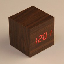 Brand New Mini Wooden Electronic Desktop Digital Table Clocks