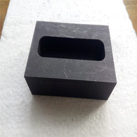 Single Hole Graphite Mold Crucible Tank Ingot Mould For Silver Gold Metal Casting