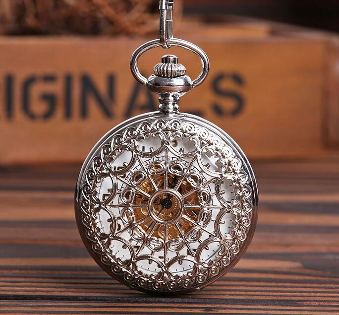 2020 New Silver Spider Web Luxury Fully Automatic Mechanical Pocket Watches BP568