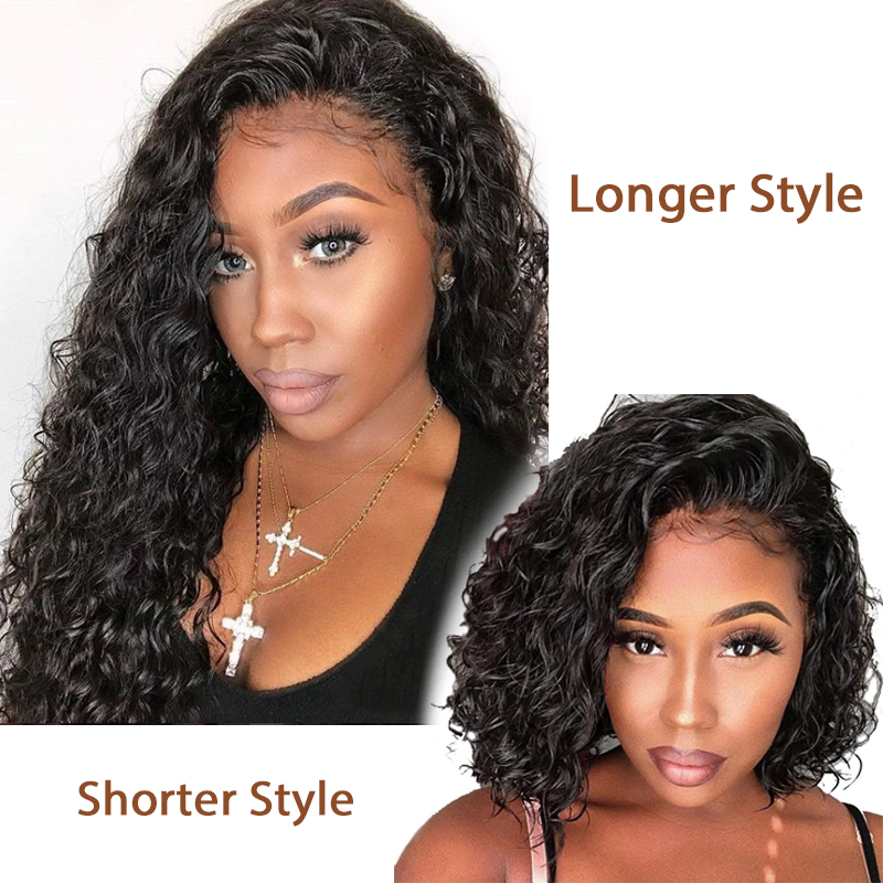 Riya Short Curly Lace Front Human Hair Wigs Pre Plucked With Baby Hair Brazilian Remy Hair Bob Lace Front Wigs For Black Women Human Hair Lace Wigs Lace Wigs