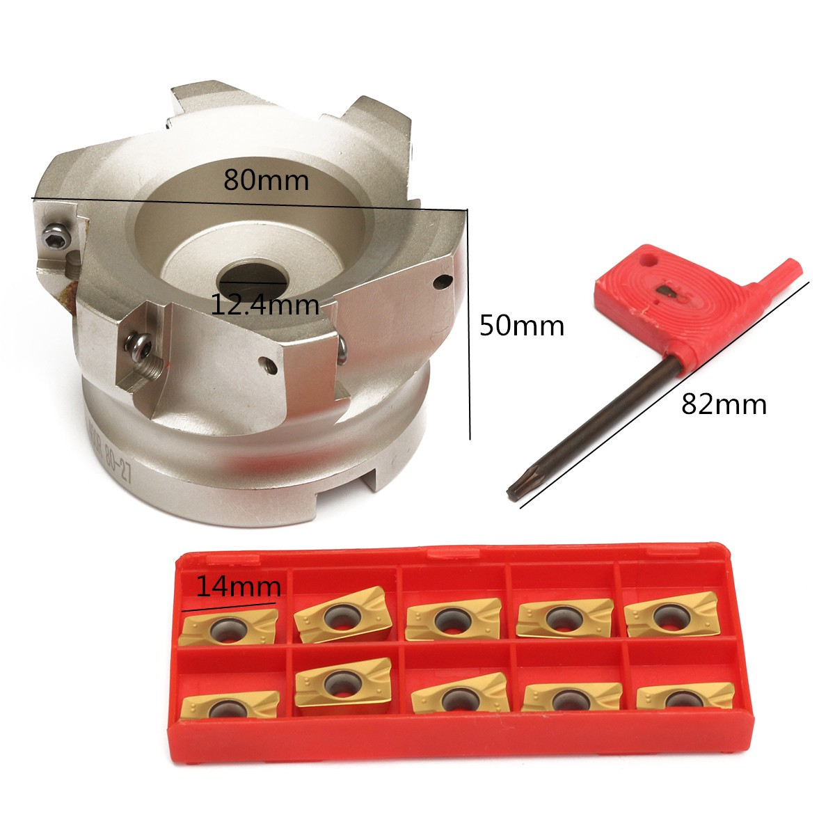 400R-80-27-6F 6Flutes Inner Hole 400R 90 degrees Indexable CNC Face Milling Cutter +APMT1604PDER Inserts Knife + T15 Spanner 1pc bap 400r 80 27 6f 6 flutes face end mill cutter with 10pcs apmt1604pder inserts for milling machine