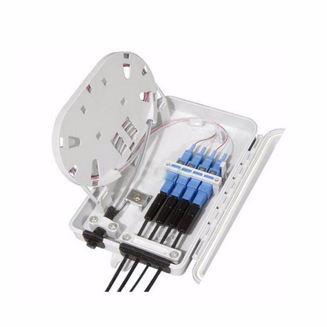 FTTH 4F Core Fiber Optic Termination Box 4 port optical fiber distribution box FTTX Fiber Optic Box Splitter Box