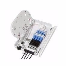 FTTH 4F rdzeń puszka przyłączeniowa do światłowodu 4 port optyczna skrzynka rozdzielcza światłowodu FTTX włókna optyczne Box rozdzielacz sygnału