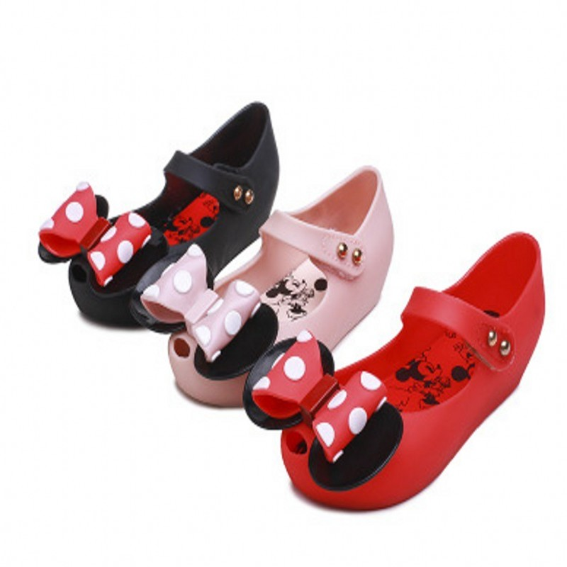 Free Shipping Kids Sandals Mini Big Bow Knot Melissa 2019 Girl Shoes Girls Shoes Children Jelly
