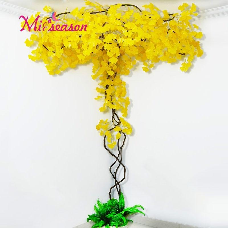 New FAI DA TE verde paesaggio artificiale foglie di decorazione di interni per il matrimonio a casa della parete del salone falso fiore pianta decorativa - 4