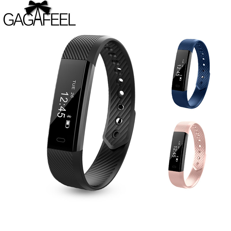 Gagafeel ID115 Smart Bracelet Fitness Tracker Step Counter Activity Monitor Smart Watch Vibration Wristband IOS Android phoneGagafeel ID115 Smart Bracelet Fitness Tracker Step Counter Activity Monitor Smart Watch Vibration Wristband IOS Android phone