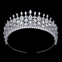 Crown Headband HADIYANA Trendy Hair Jewelry Design For Women High Quality Wedding Party Crowns BC4819 Haar Sieraden Bruiloft