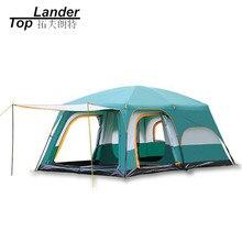 Большая туристическая палатка, на 8 10 12 человек, водонепроницаемая семейная палатка для отдыха на открытом воздухе, двухслойная, для мероприятий, роскошная, для кемпинга