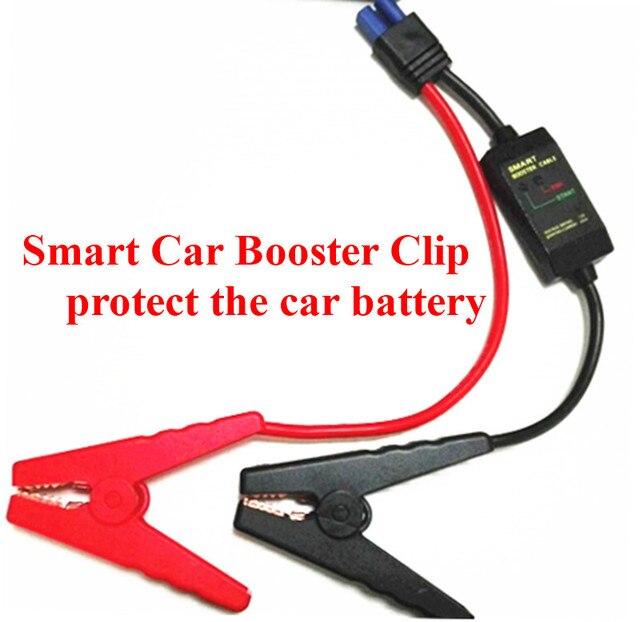 New universal smart car booster cable para cabo de bateria carro saltar de arranque curto circuito sobrecarga constante regulador navio livre