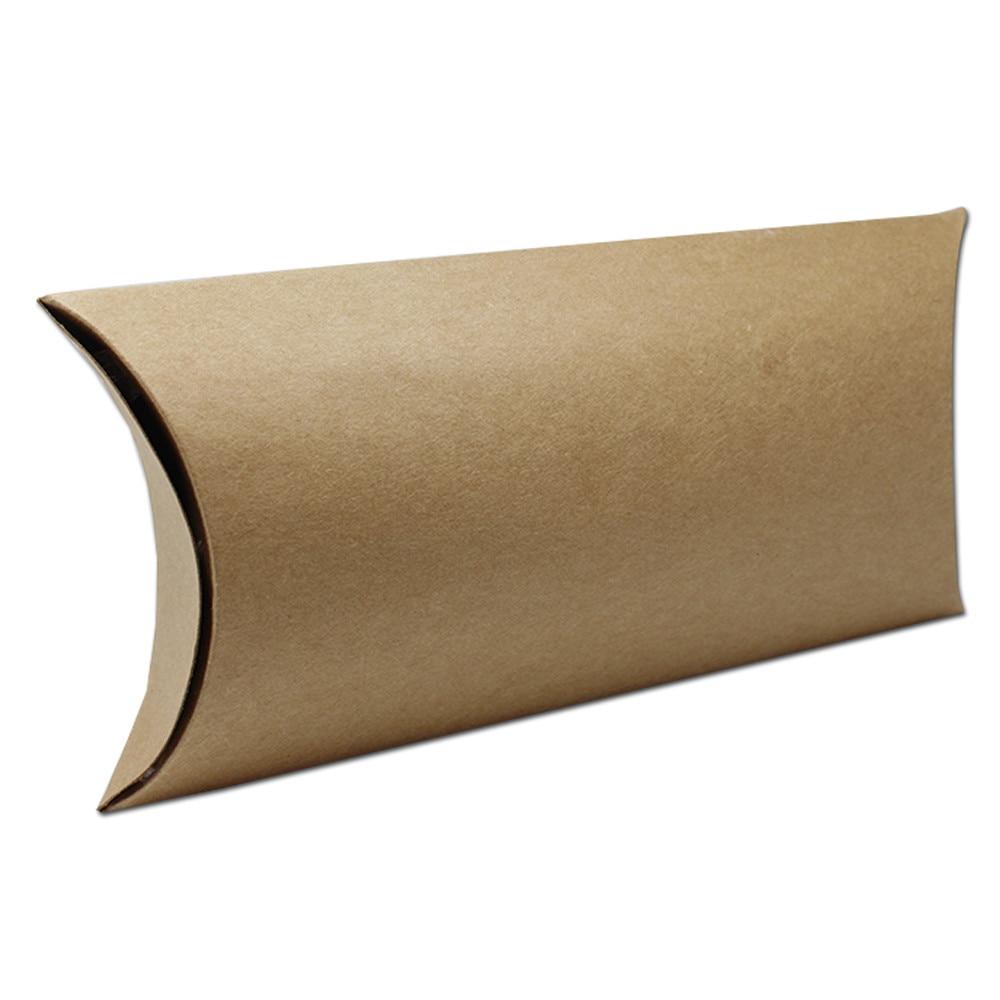 ᗔDHL 100 unids/lote papel Kraft marrón Almohadas caja panadería ...
