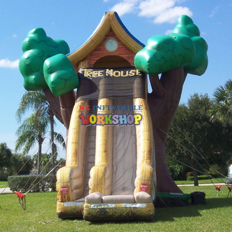 Double Lane Professional Inflatable Water Slide For Water