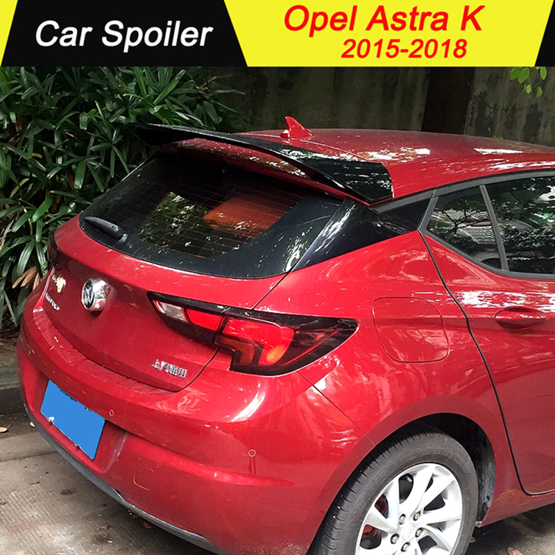 For Opel Astra K Spoiler ABS Spoiler Car Tail Wing Decoration Rear Trunk Spoiler For Opel