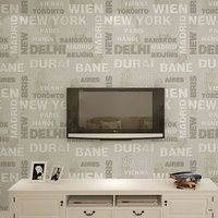 New Fashion 3D Non Woven Letter Design Wallpaper Modern Wallpapers Living Room Papel Pintado Mural Wall