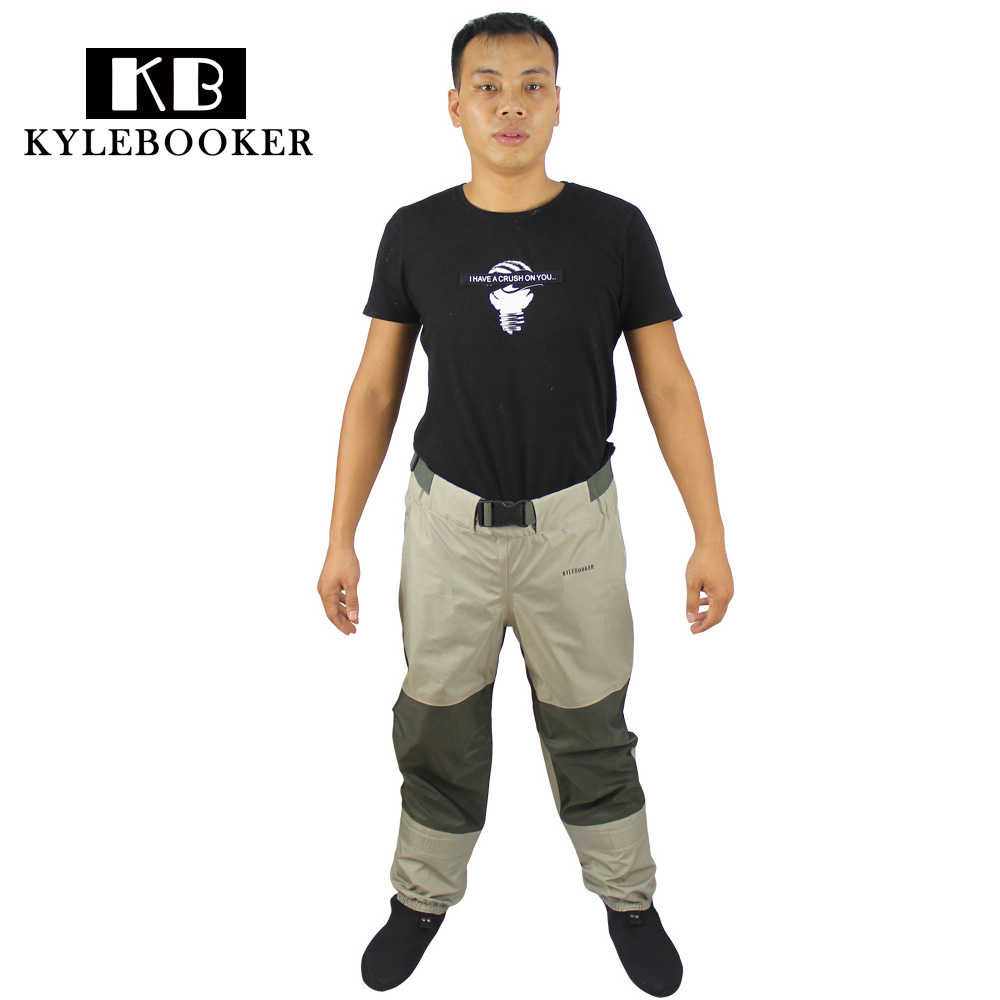 Fly Fishing Waders Pant Breathable fishing wading waist pants rafting wear hunting waders with neoprene socks