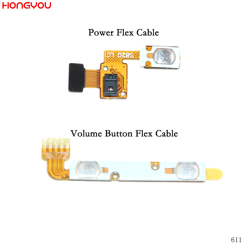 Power Button On / Off Volume Mute Switch Button Flex Cable For Lenovo S820