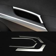 цена на For Suzuki S-cross scross SX4 2014 2015 2016 2017 2018 ABS Chrome door Armrest handrail Trim frame cover trim car styling 4pcs