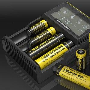 Image 4 - Зарядное устройство Nitecore D4, 100% оригинал, ЖК дисплей, интеллектуальное зарядное устройство Li Ion 18650 14500 16340 26650 AAA AA 12 В