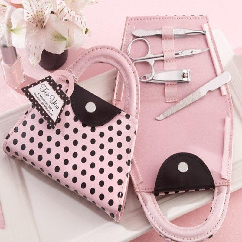 Dhl 무료 verzending 50 sets trouwbedcankjes roze stip 지갑 매니큐어 세트-에서파티 취향부터 홈 & 가든 의  그룹 1