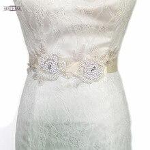 S152 Cinto com Pérolas Handmade Sash Mulheres vestidos de Noiva Vestido de Casamento Acessórios DIY Pérola Beads Sash Frete Grátis Em Estoque