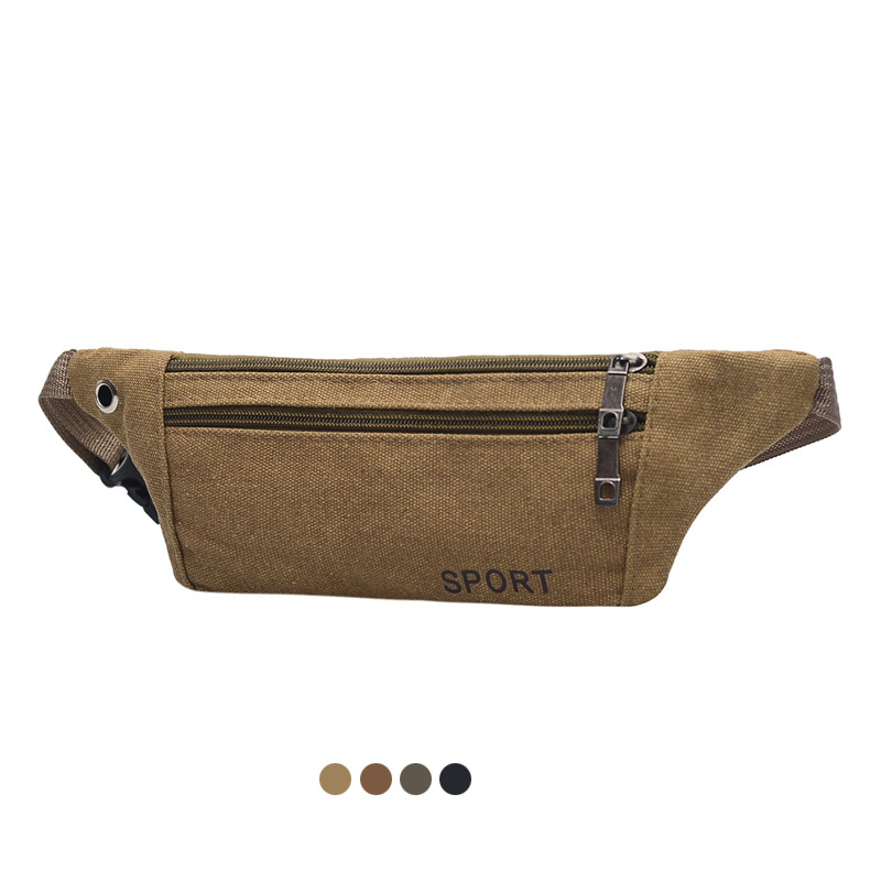 WAGNKA Unisex Chest Bag Canvas Running Waist Bag For Men Fanny Pack Waist Bag Men Chest Bag For Men Casual Chest Bag Tactical
