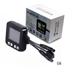 New 2 0 Touch Screen C6 Car Black Box Dual Lens Full Hd 720P Motorcycle DVR