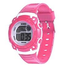 Практичный HONHX дети девочки цифровой кварц светодиодный наручные часы Дата Сигнализация Спорт