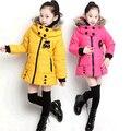 2016 os novos outono e inverno crianças de Algodão acolchoado-down casaco meninas outwear casaco frete grátis