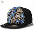 Новое хип-хоп треугольник заклепки ручной четыре черепахи DJ Snapback взрослых мода улица плоским шляпа для женщин , пару