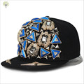 Brand New Hiphop Triangle Rivet Handmade Four Turtles DJ Snapback Caps Adult Fashion Street Baseball Flat Hat For Women Couple