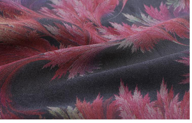 Suelto Y 1 Patrón Pantalones Las Otoño Mujer La Flores Del Moda Floral Alta Longitud Cintura Ancha De Slim 2018 Tobillo floral Primavera 2 Pierna Mujeres OCwd0xBOq