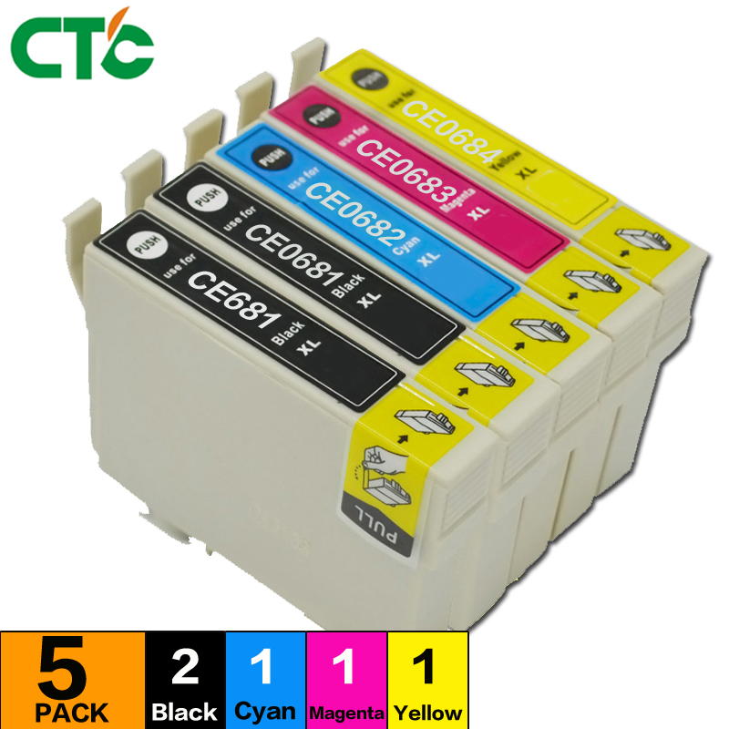 5PCS T0681 68 ink cartridge Compatible For Stylus NX300 NX305 NX400 Inkjet Cartridge NX415 NX510 NX515 Printer