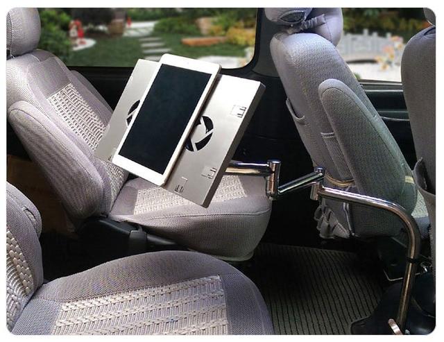 Full Motion 360 Grad umdrehung Auto Laptop Schreibtisch Notebook Halter auto Esstisch Schreibtafel Tablet PC Tisch Mit USB Fan-in TV-Halterung aus Verbraucherelektronik bei