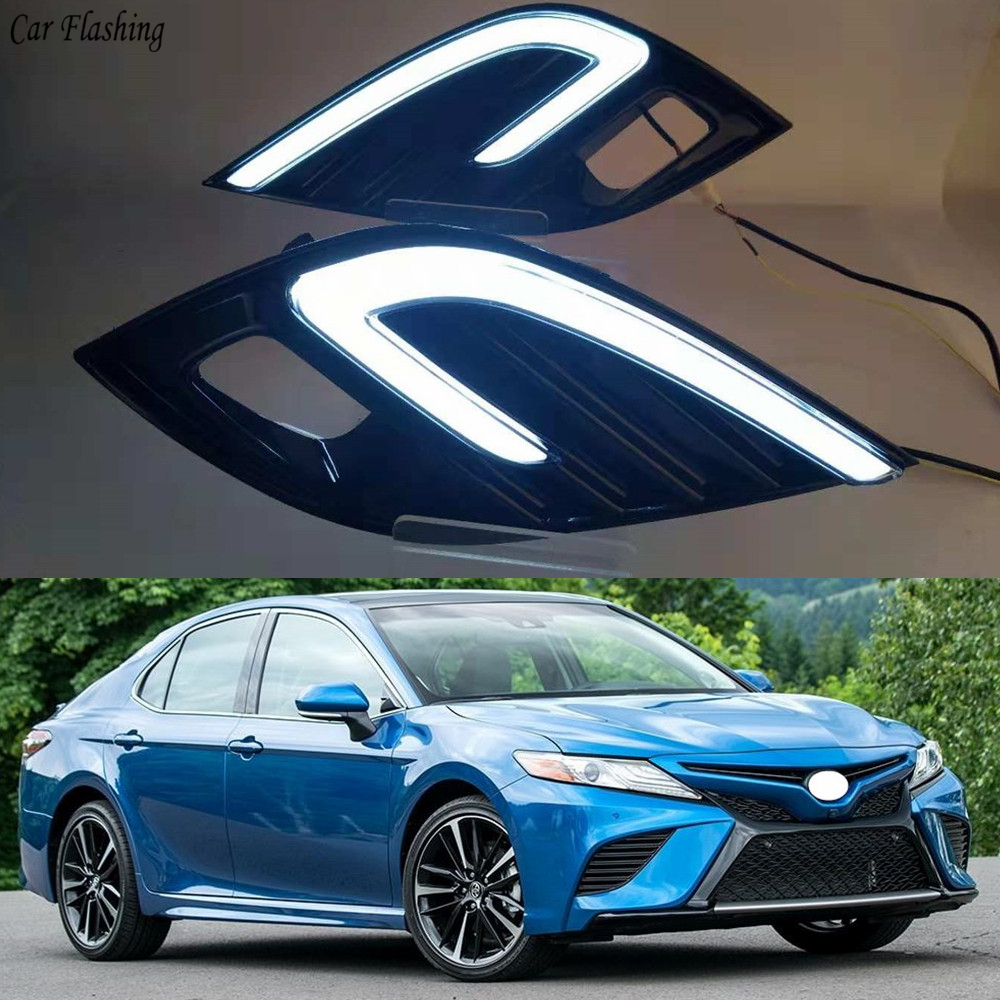 Car Flashing 2pcs 12V Car DRL Daytime Running Light For