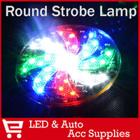 2 X 12V Flashing Strobe Round Reflector Headlight Turn Signal Marker Light For Motorcycle Trailer Bike
