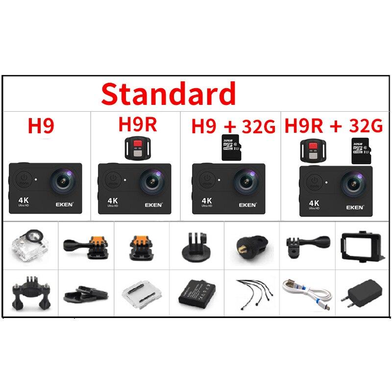 EKEN H9 H9R Ultra FHD 4 K 25FPS Wifi caméra d'action 30 M étanche 1080 p 60fps sous-marine aller À Distance extrême pro caméra de sport - 2
