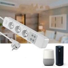 цена на EU wifi smart sub-control socket Household Switch board High-power safety 1.8m door socket