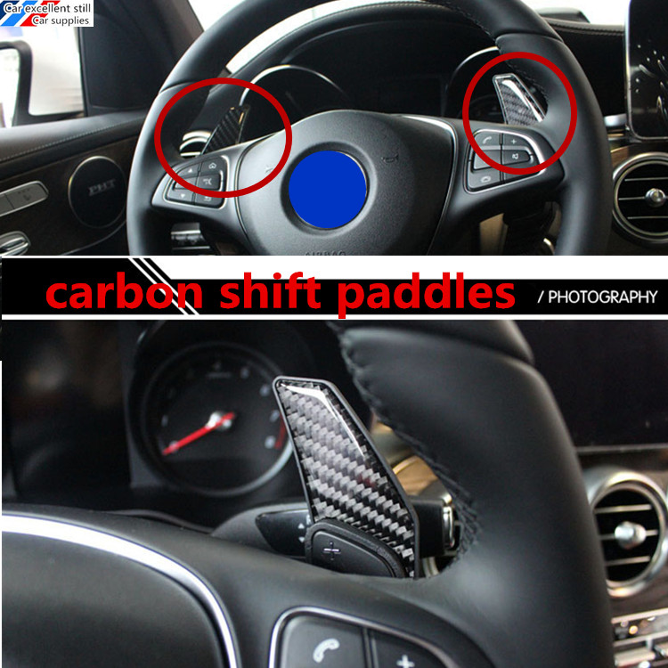 fit for C-Class 2015 C180L C200L C260L car carbon fibre steering wheel shift paddle shifter Extended type 2 color for choice car styling carbon fiber steering wheel paddle shifter fit for frs gt86 subaru brz scion fr s shift paddle