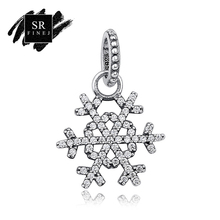 SR:FINEJ Ramantic Original 925 Sterling Silver Cubic Zirconia Silver Pendant Charm Fit Bracelet Necklace DIY Jewelry Accessories(China)