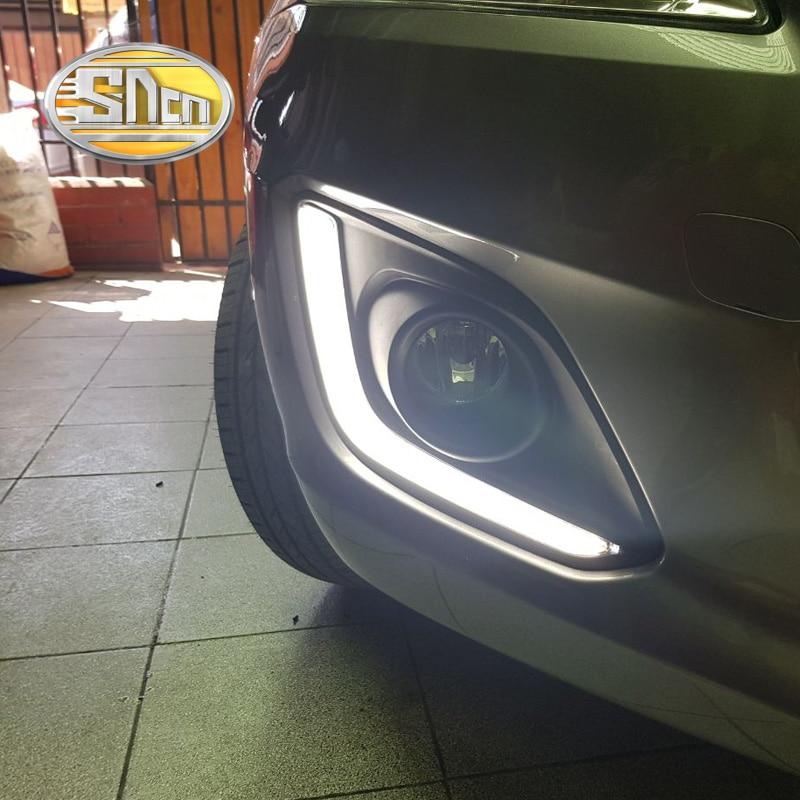 SNCN светодиодные дневные ходовые свет для Сузуки Свифт 2014 2015,авто аксессуары Водонепроницаемый АБС 12В DRL туман Лампа украшение