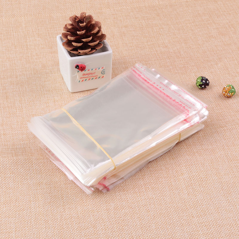 200pcs Lot 11x11 2cm Clear Plastic Bag Resealable Cellophane Poly Bags Self Adhesive Seal Opp Bangle Jewelry Packaging In
