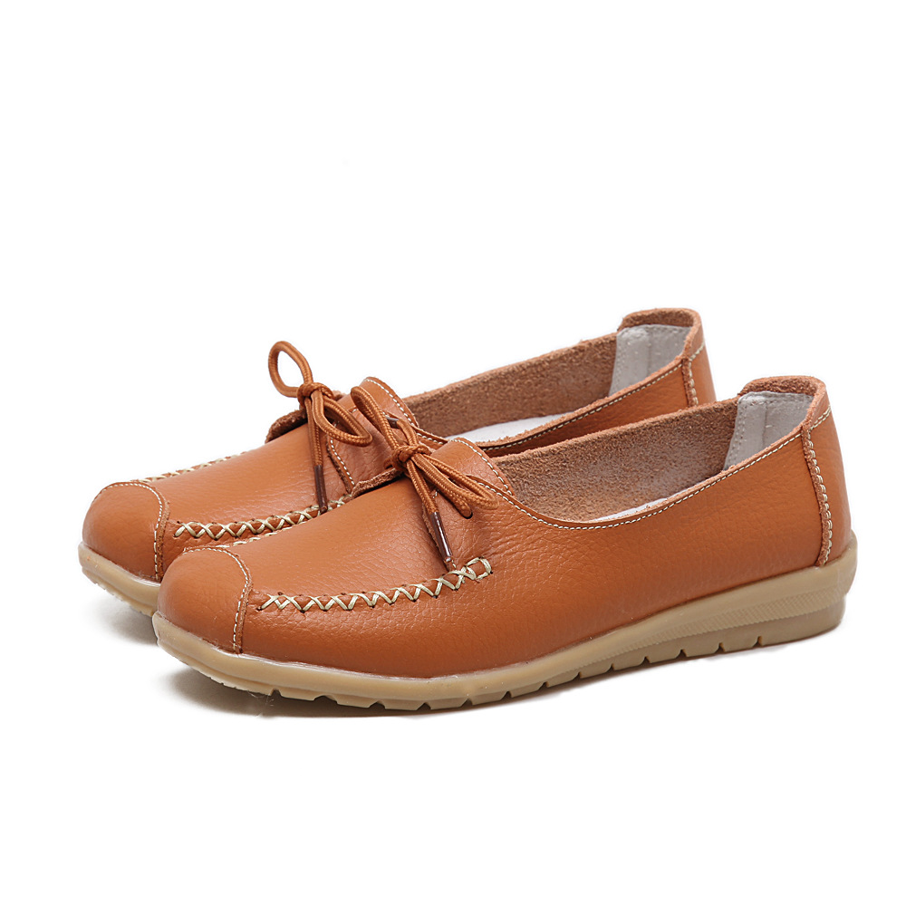 Spring Shoes Women Genuine Leather Shoes Fashion Casual Loafers Fringe Slip-on Round Toe Solid Ballet Flats Espadrilles Women casual flat shoes woman 2018 spring solid loafers slip on flats fashion round toe women shoes 3 colors size 35 40 f039