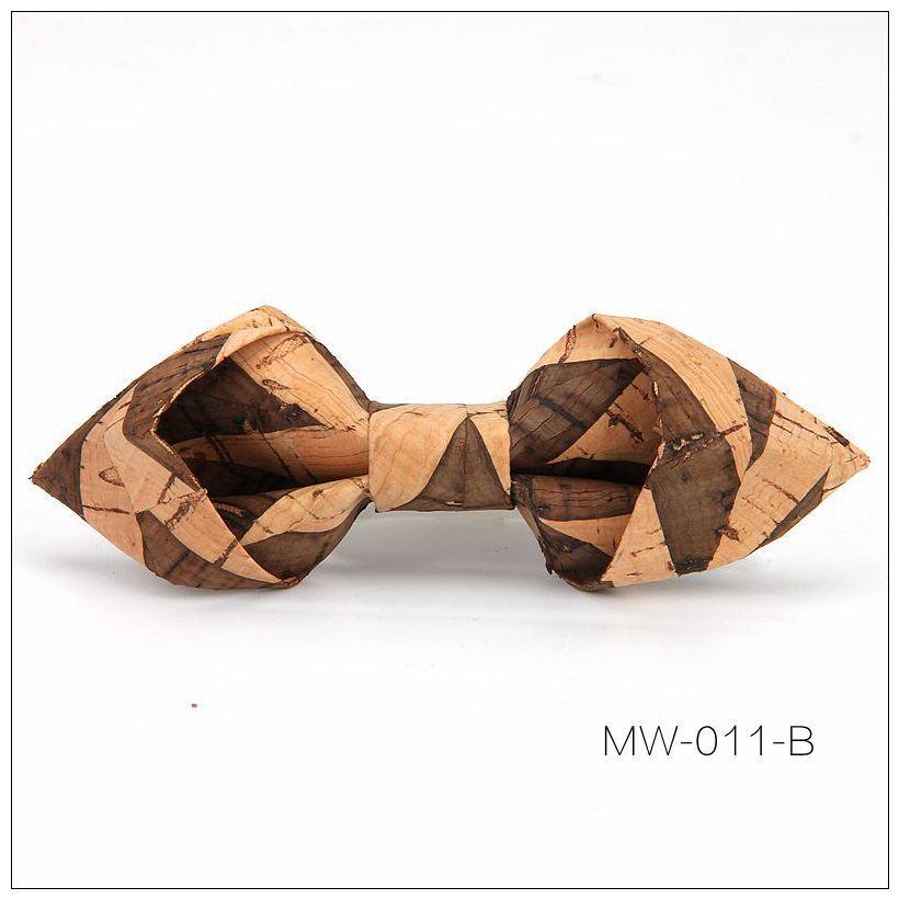 New Handmade Wooden Cork Bamboo Bow Tie Bowtie Men's Cravat 90