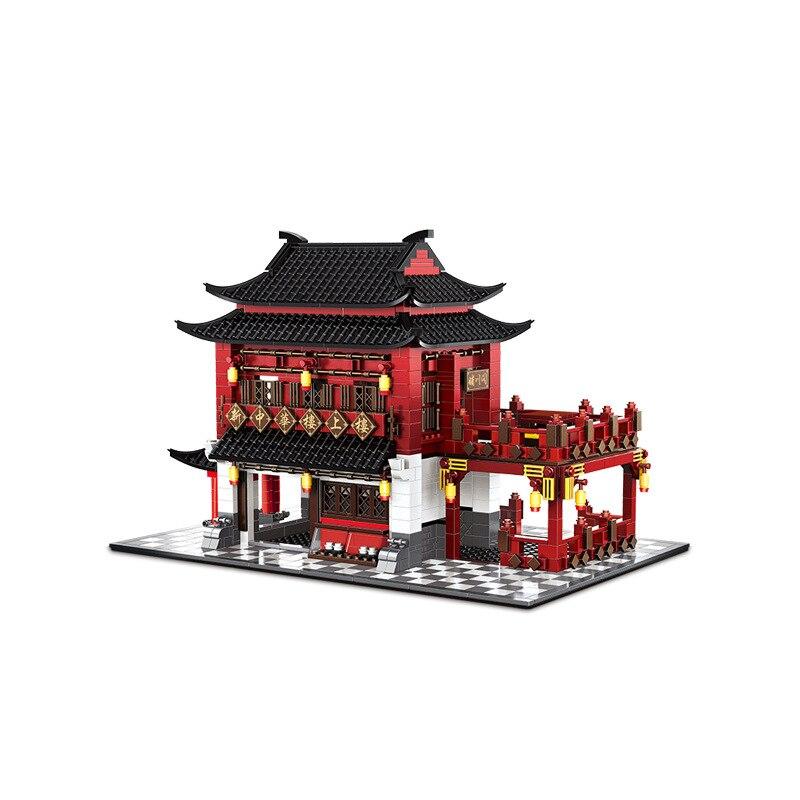 Wange Blöcke Welt Architektur Chinesischen Stil Modell China Alte Hotel Gebäude Steine Pädagogisches Spielzeug für Kinder Geschenk 6312-in Sperren aus Spielzeug und Hobbys bei  Gruppe 1