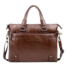 POLO 2016 new brand good quality leather Business Handbag Men's Briefcase bag Men Messenger Bag bolsa fashion men's travel bags