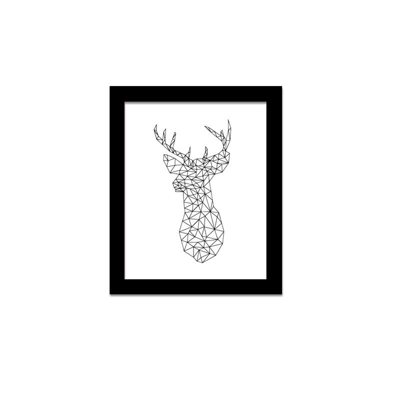 graphic regarding Printable Deer Head identify US $3.66 41% OFFGeometric Deer Brain Canvas printable poster,impressive Wall Artwork Photos for House place of work Decor -in just Portray Calligraphy versus House